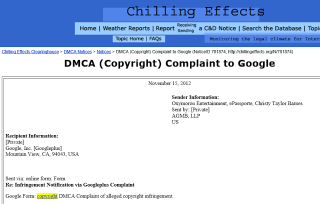 Christopher Mallick DMCA notice