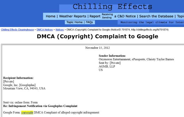 Christopher Mallick DMCA notice